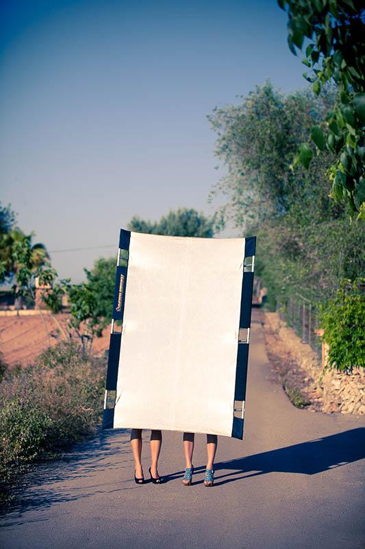 Der Traum jedes Fotografen - sunbounce-o-legs ;-)