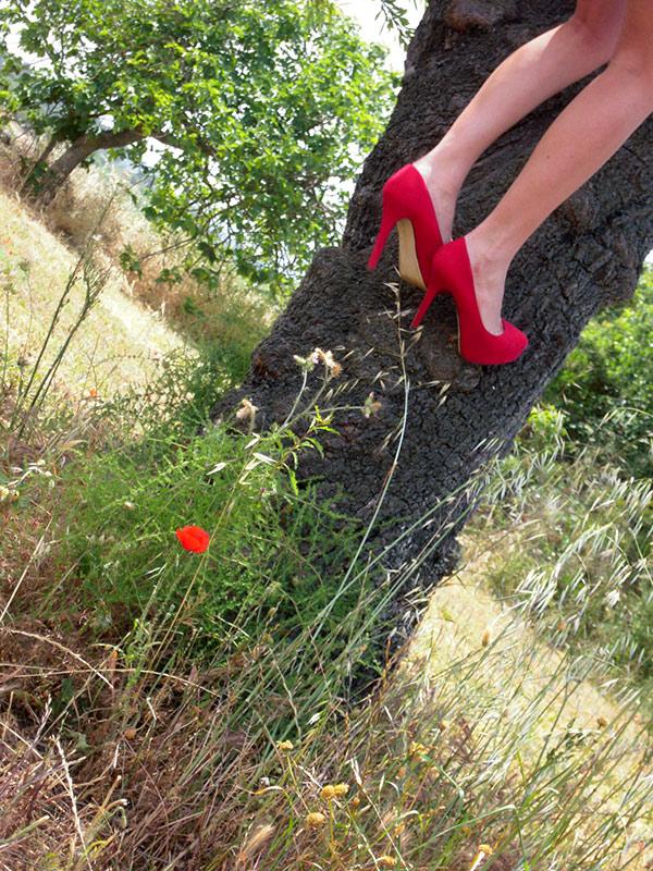 High Heels und Mohnblume ;)