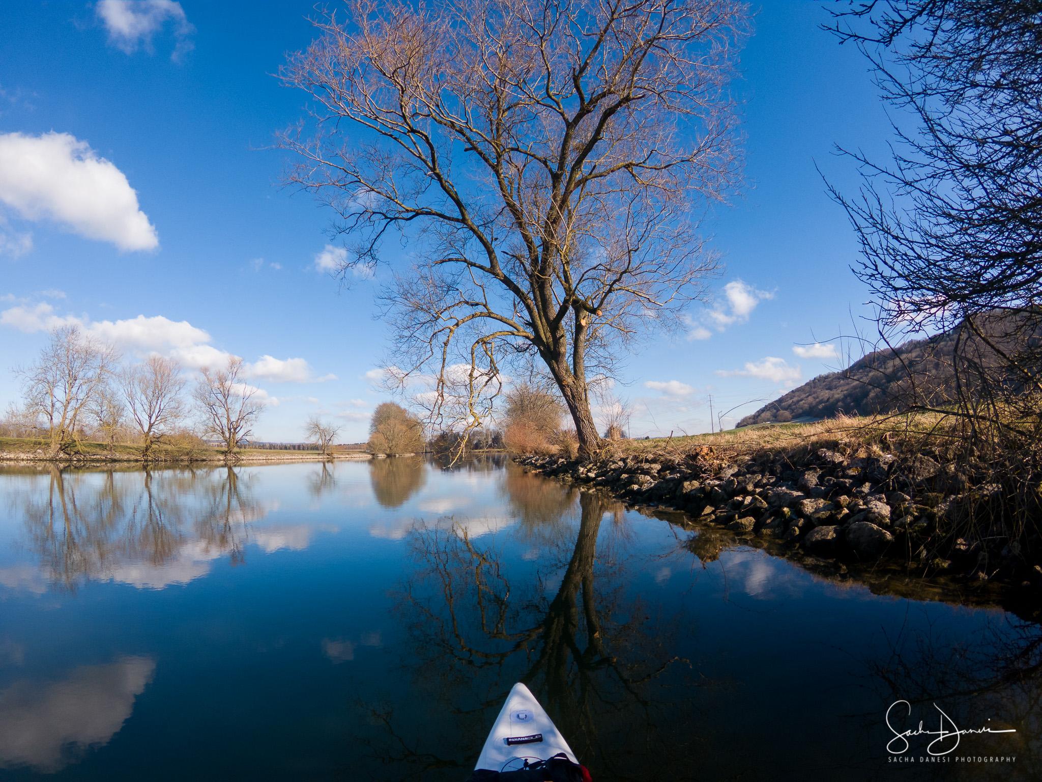 SUP auf dem Broye Kanal